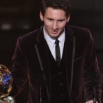 Lionel Messi took his third world player of the year crown on Monday in Switzerland