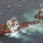 Stricken cargo ship Rena breaks up off New Zealand